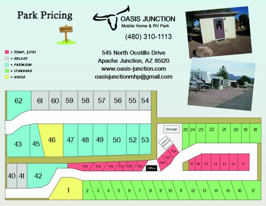 Oasis Junction Mobile Home RV Park RVs Picture Map
